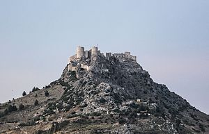Hilltop castle - Yılankale in Turkey was built by the Armenian Kingdom of Cilicia on a hilltop.