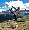 Yoga dancer pose at Independence Pass, CO.jpg