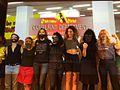 You are nothing without feminist art, photo Marie Docher- La Barbe, Guerrilla Girls et Femen réunies -Paris,9 09 16, Maison des auteurs SACD.jpg
