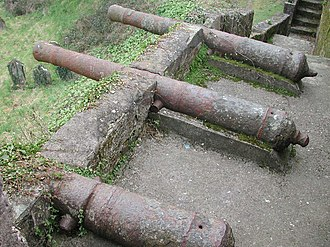 English cannon - Remains of a battery of English cannon from Youghal
