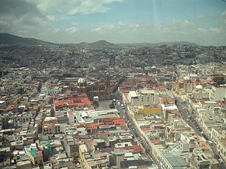Zacatecas City - View of Zacatecas from the cable-car that runs between its two highest hills