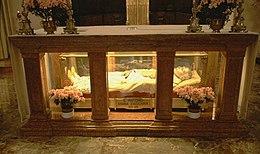 Corpo incorrotto di San Antonio Maria Zaccaria, nella chiesa di San Barnaba di Milano.