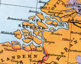 County of Zeeland - The County of Zeeland in the 15th century
