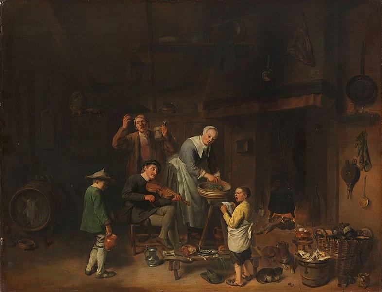 "File:Zingende boerenfamilie Rijksmuseum SK-A-376.jpeg ""Singing Peasant Family"""