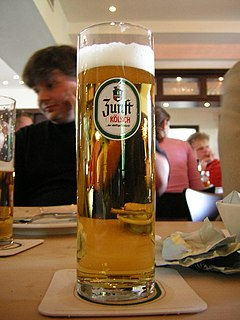 Kölsch (beer) local beer specialty that is brewed in Cologne, Germany