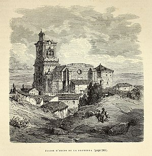 Arcos de la Frontera - Iglesia de San Pedro in 1874 by Gustave Doré in the work L'Espagne.