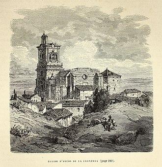 Arcos de la Frontera - Iglesia de San Pedro in 1874 by Gustave Doré in the work L'Espagne.