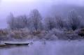 """""""Barca in sosta nella nebbia dell'alba"""".tif"""