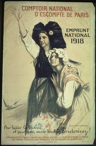 Auguste Leroux - Poster for war loan by Comptoir national d'escompte de Paris, 1918