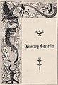 """Literary Societies"" art detail, Virginia Tech Bugle 1898 (page 133 crop).jpg"