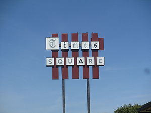 "Times Record News - ""Times Square"" in Wichita Falls refers to the Wichita Falls Times Record News, located across Lamar Street from the Kemp Center for the Arts."