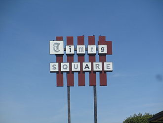 """Times Record News - """"Times Square"""" in Wichita Falls refers to the Wichita Falls Times Record News, located across Lamar Street from the Kemp Center for the Arts."""