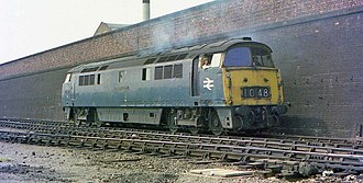 British Rail Class 52 - D1048 Western Lady captured at Old Oak Common on 13 July 1976.