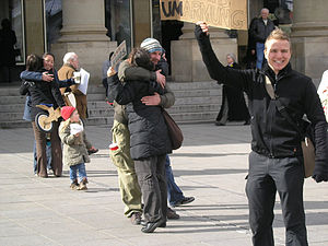 'FREE HUGS', Stuttgart, Germany.