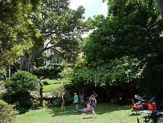 Brett Whiteley - Wendy Whiteley's garden in Sydney, where Brett Whiteley's ashes were scattered