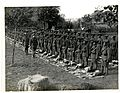 (1-4th) Gurkhas at kit inspection in (Le Sart,) Flanders. Photographer- H. D. Girdwood. (13875921863).jpg