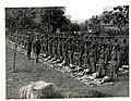 (1-4th) Gurkhas at kit inspection in (Le Sart,) Flanders. Photographer- H. D. Girdwood. (13875921863).jpg
