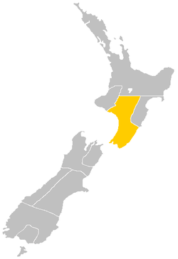 Wellington Province within New Zealand