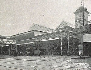 Cortlandt Street (Manhattan) - The Cortlandt Street Ferry Depot in 1893