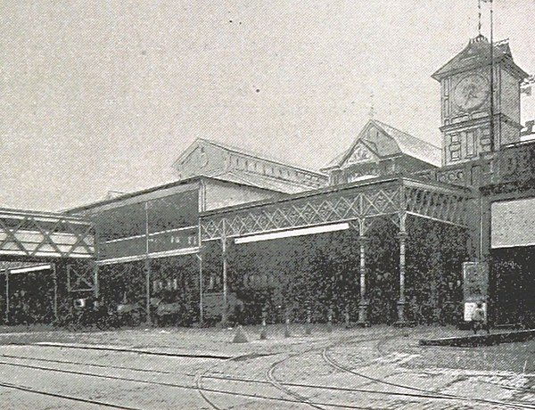 The Cortlandt Street Ferry Depot in 1893 (King1893NYC) pg135 CORTLANDT-STREET FERRY. NORTH RIVER crop.jpg