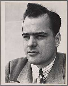 Photograph of Pare Lorentz taken between the years of 1935 and 1942, possibly photographed by Dorothea Lange