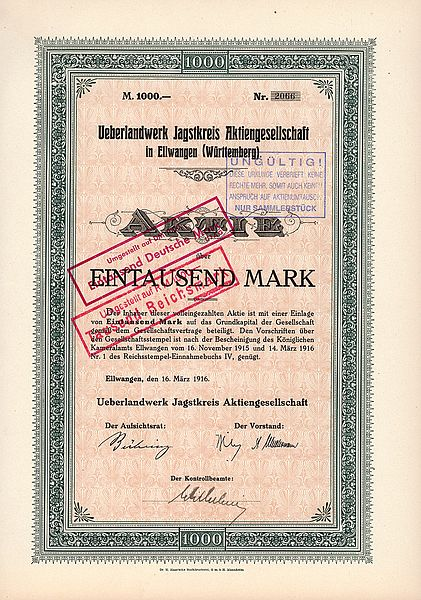 http://upload.wikimedia.org/wikipedia/commons/thumb/0/0a/%C3%9Cberlandwerk_Jagstkreis_AG_1000_Mk_1916.jpg/421px-%C3%9Cberlandwerk_Jagstkreis_AG_1000_Mk_1916.jpg