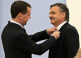 René Fasel - Image: Дмитрий Медведев и Рене Фазель