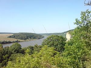 Hungarian conquest of the Carpathian Basin - River Dniester at Dzvenyhorod (Borshchiv Raion, Ukraine)