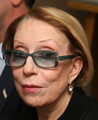 Inna Churikova - Inna, at a press conference in the Saratov Drama Theater in 2011.