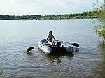 Надувная лодка Catfish-340 с веслами фото3.JPG