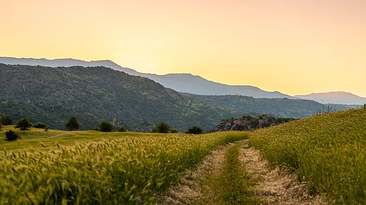 Landscape in Mariovo, Macedonia