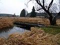 Пешеходный мост через реку Уша. Посёлок Красное. - panoramio.jpg