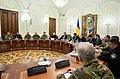 Президент України Петро Порошенко під час на засідання Ради національної безпеки і оборони, 26 листопада 2018 року..jpeg