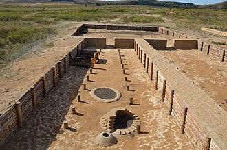 Sintashta culture - Image: Укрепленное поселение Аркаим. Музеефицированный раскоп на двух жилищах