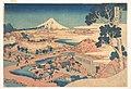 冨嶽三十六景 駿州片倉茶園の不二-Fuji from the Katakura Tea Fields in Suruga (Sunshū Katakura chaen no Fuji), from the series Thirty-six Views of Mount Fuji (Fugaku sanjūrokkei) MET DP141018.jpg