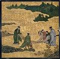 琴棋書画図襖の内-Appreciation of Painting, from a set of the Four Accomplishments MET DT6108.jpg