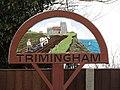 -2019-02-21 The village sign, Mundesley Road, Trimingham (1).JPG