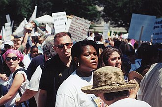 Million Mom March - Demonstrators at the march