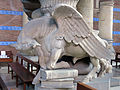 010 Església de l'Hospital de Sant Pau, toro de Sant Lluc.JPG
