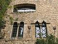 012 Castell de Santa Florentina (Canet de Mar), ala originària, finestres geminades.JPG
