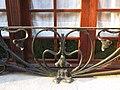 022 Casa al carrer de França, 22 (Sant Antoni de Vilamajor), barana de ferro forjat.jpg
