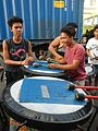 0975jfPedestrian footbridge C-9 Capulong Marcos Road Musicians Tondo Manilafvf.jpg