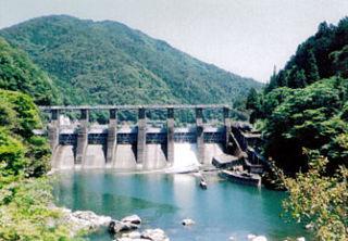 Shimohara Dam dam in Gero, Gufu, Japan.