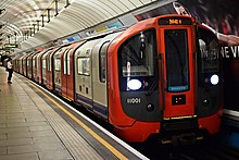 A 2009 stock Victoria line train at Pimlico station