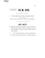 116th United States Congress H. R. 0000192 (1st session) - Trans-Sahara Counterterrorism Partnership Act C - Referred in Senate.pdf