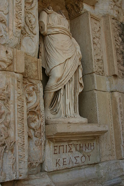 File:14.26 Episteme (Knowledge) in the Celsus Library in Ephesus.JPG
