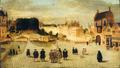 1555 circa, Den Haag, Plaats en Groene Zoodje gezien r. Vijverberg, Hofvijver en Binnenhof.png