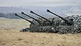 155mm High Explosive Ammunition for the 105mm Light gunbeing used during on Exercise Steel Sabre. MOD 45158552.jpg