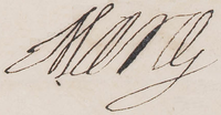 1622 signature of Queen Marie de Médicis of France.png