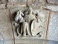 163 Castell de Santa Florentina (Canet de Mar), escultura a l'entrada a l'avantsala de la cripta.JPG
